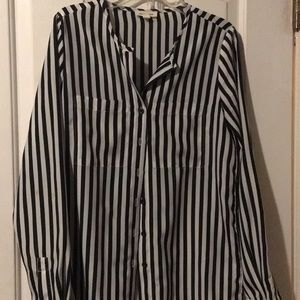 Stripe black and white blouse
